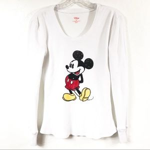 Disney Mickey Mouse White Long Sleeve Thermal